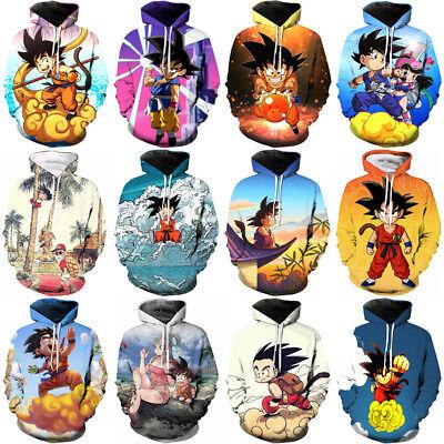 Women//Men Dragon Ball Z Cloudraker Goku Funny 3D Print Casual Hoodies Sweatshirt
