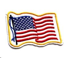 USA American Flag Stars Stripes Spangled Banner Embroidered Iron Sew On Patch US