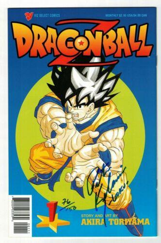 DRAGON BALL Z #1 NM Signed by the Voice of Goku...Peter Kelamis Viz Select 1999