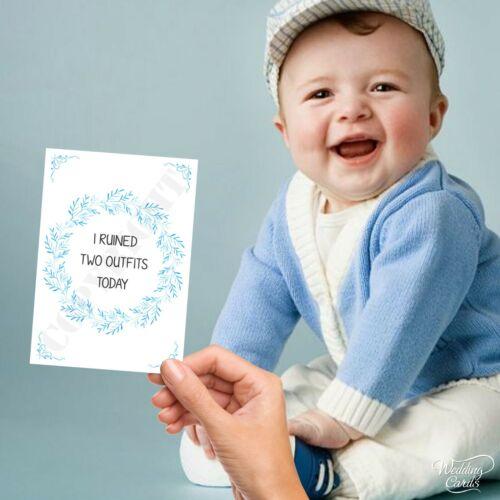 Baby Milestone Cards Funny Joke Son Boy Favour Keepsake Milestones Shower Set of