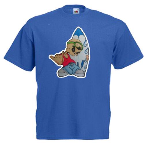 Surfer Dude Surf Children/'s Kids T Shirt