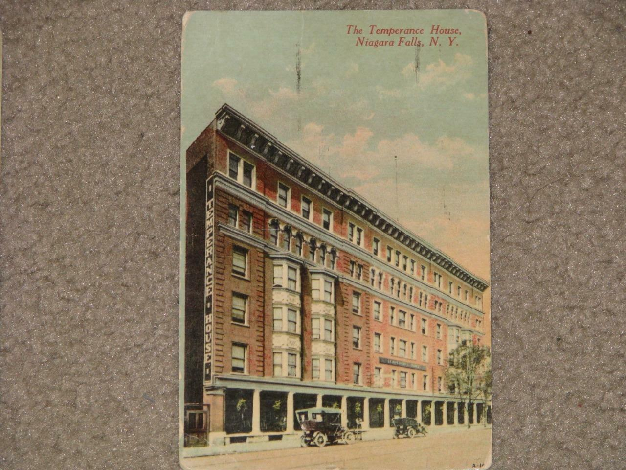 The Temperance House, Niagra Falls, N.Y. 1913, used vintage card