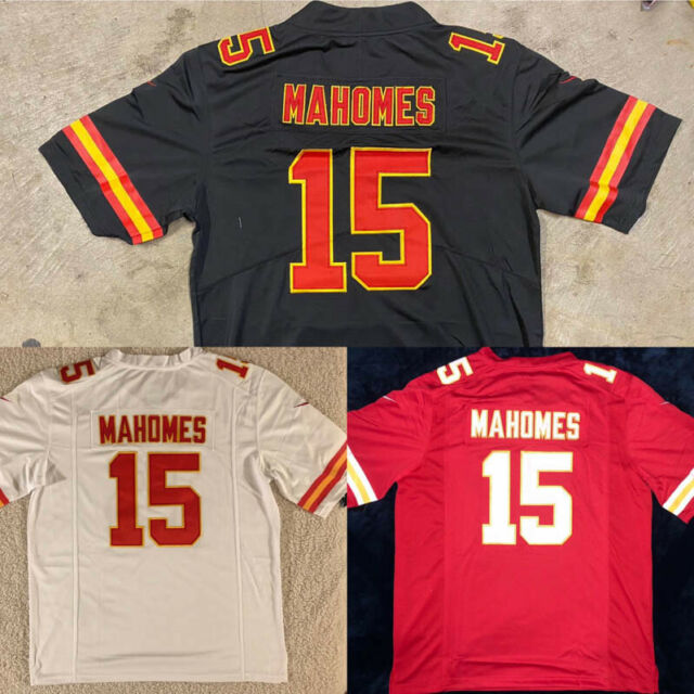 Patrick Mahomes Men Jersey White or Red or Black  Chiefs