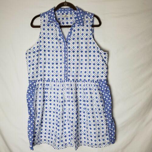 Vineyard Vines Painted Rattan Linen Shirt Dress Si