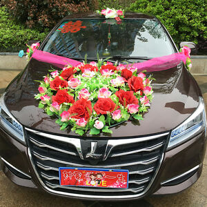 Car Flower wedding car decoration Korean decoration suits Decorated ...
