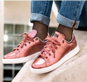 best service 5adcb 59e16 Image is loading Adidas-Stan-Smith-Boost-BB0107-women-athletic-bronze-