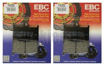 1998 to 2003 FA252 EBC Organic FRONT Brake Pads 2 Sets Yamaha FZS600 Fazer