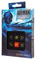Q-workshop Batman Miniature Game - D6 Batman Dice Set Of 6 Dice Kniacc0031