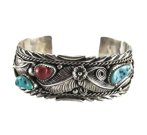 Image Is Loading Atkinson Trading Co Sterling Silver Navajo Cuff Bracelet