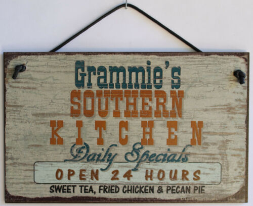 Grammie/'s Southern Kitchen 5x8 Sign Country Cooking Soul Food BBQ Fried Open 24H
