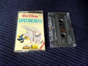 MC-Hoerspiel-Kassette-DUMBO-Walt-Disney-von-1981-Erzaehlerin-Johanna-von-Koczian
