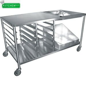 Stainless-Steel-Donut-Table-w-Glaze-Dipper-66-034-x-34-034