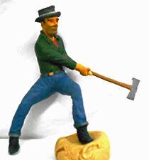 LUMBERJACK AXE MAN Number 1 O On30 Model Railroad Painted Figure FGOGLOG01A