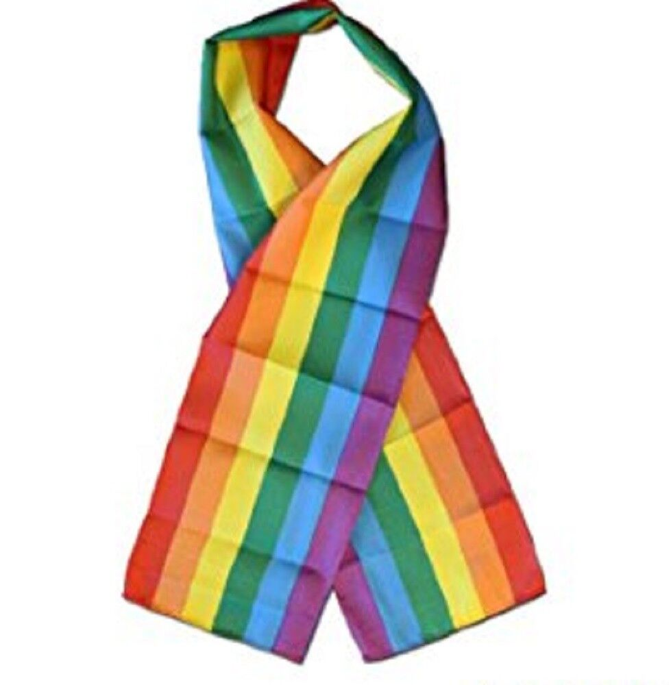 Rainbow Gay Pride LGBTQ Lightweight Flag Printed Printed Printed Knitted Style Scarf 8 x60 3b71a0