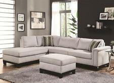Coaster 503615 Mason Blue Grey Velvet Reversible Sofa Chaise ...