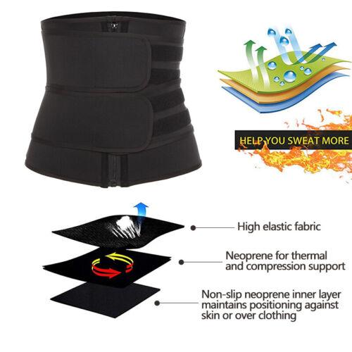 Men/&Women Waist Trainer Neoprene Belt Sauna Sweat Body Shaper Tummy Control Slim
