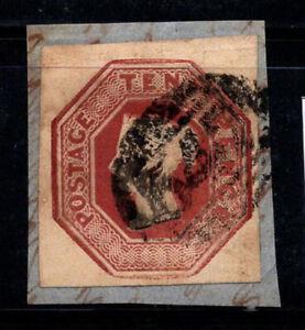 Gran Bretagna 1847 MER. 6 timbrato 80% 2 P, Regina Vittoria