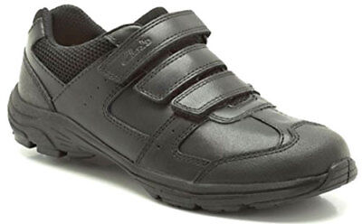 BNIB Clarks Bootleg Boys Air Suffolk Black Leather Air Spring School Shoes