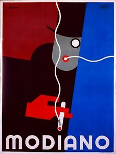 Vintage-Advertising-Poster-Modiano-A4-amp-A3