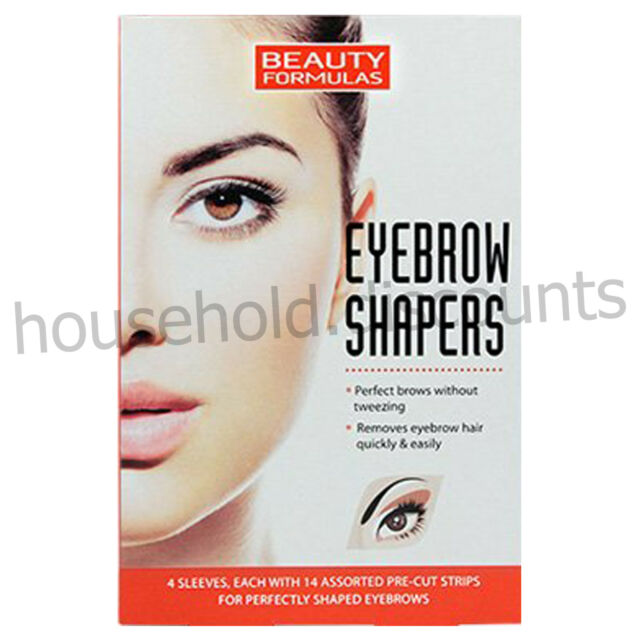 56 X Beauty Formulas Eyebrow Shapers Wax Strips Easy Hair Removal