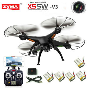 Syma-X5SW-V3-Wifi-FPV-2-4G-RC-Quadcopter-Drone-with-HD-Camera-4-Batteries