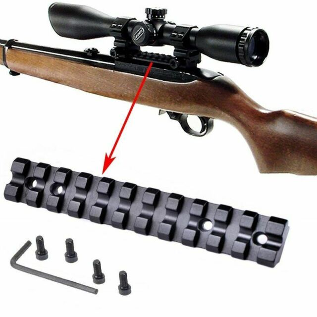 Scope Sight Mount Low Profile Base Weaver Picatinny Rail Slot For Ruger 10/22 11