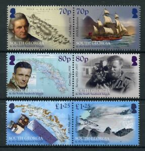South-Georgia-amp-Sandwish-Isl-2018-MNH-Mapping-BAS-GIS-Maps-6v-Set-Ships-Stamps