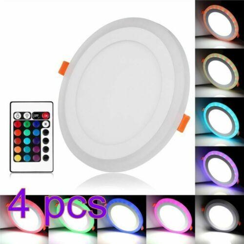 RGBW LED Panel Ultra Slim Deckenleuchte Einbaustrahler Einbauleuchte Spot Rund