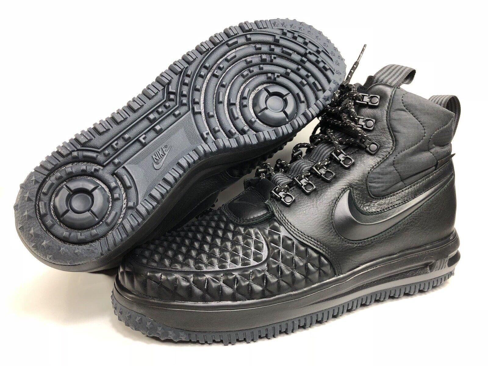 Nike Lunar Air Force 1 Mens Duckboot '17 Triple Black 916682 002 NEW Size 10