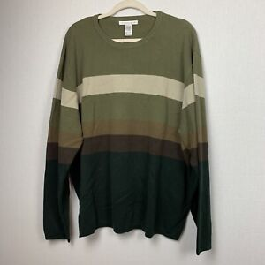 Geoffrey-Beene-Mens-Long-Sleeve-Micro-Texture-Sweater-Size-2XL-NWT-Striped
