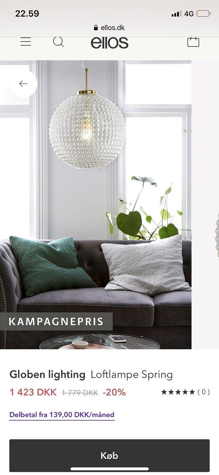 Picture of: Anden Loftslampe Ellos Dba Dk Kob Og Salg Af Nyt Og Brugt