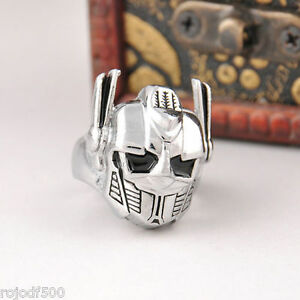 Transformers-Silver-AUTOBOTS-Leader-Optimus-Prime-Metal-Ring