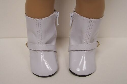"""WHITE Patent Rainboots Rain Boots Doll Shoes For 18/"""" American Girl Debs"""