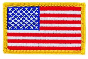Patch-ecusson-brode-Drapeau-USA-ETATS-UNIS-AMERICAIN-Thermocollant-Insigne