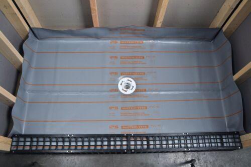 Gray 5/'X8/' SHOWER PAN LINER USA 40 mil