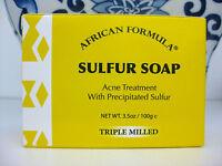Sulfur Soap African Formula, Acne Treatment With Precipitated Sulfur, 3.5 Oz
