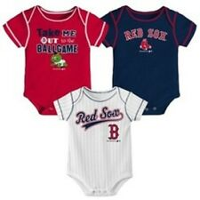Boston Red Sox Baby Infant BIG TIME FAN 3-Piece Bodysuit Creeper Romper Set