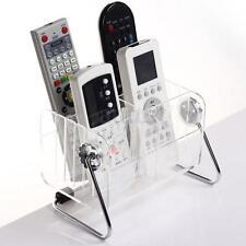 Clear TV/VCR/DVD Remote Control Phone Key Pen Organizer Storage Box Stand Holder