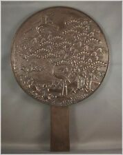 Antique Japanese Kagami Bronze Mirror Meiji Period