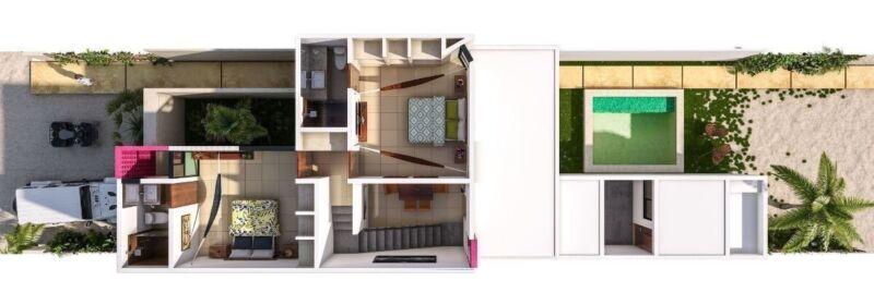 Villas en Privada ubicadas en  Chicxulub Puerto con amenidades