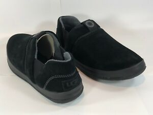 52a3ea9f3b7 Details about New Men's UGG Hanz slipper Suede size 10 Black NIB