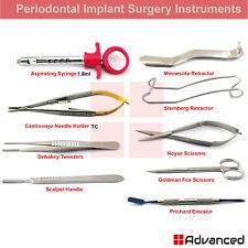 9pcs Dental Implant Surgery Instruments Kit Aspirating Syringe Mouth Retractors