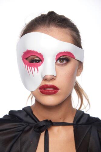 White Phantom of the Opera Gothic Punk Crow Costume Mask Eyeliner Unisex Drip
