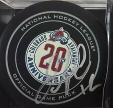 item 1 SIGNED OFFICIAL NHL GAME PUCK COLORADO AVALANCHE JAROME IGINLA 20th  Anniversary -SIGNED OFFICIAL NHL GAME PUCK COLORADO AVALANCHE JAROME IGINLA  20th ... 1259ad146