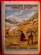 MANUFRANCE de 1911 Catalogue PHOTO APPAREIL FOLDING CINEMA LUMINOR KODAK