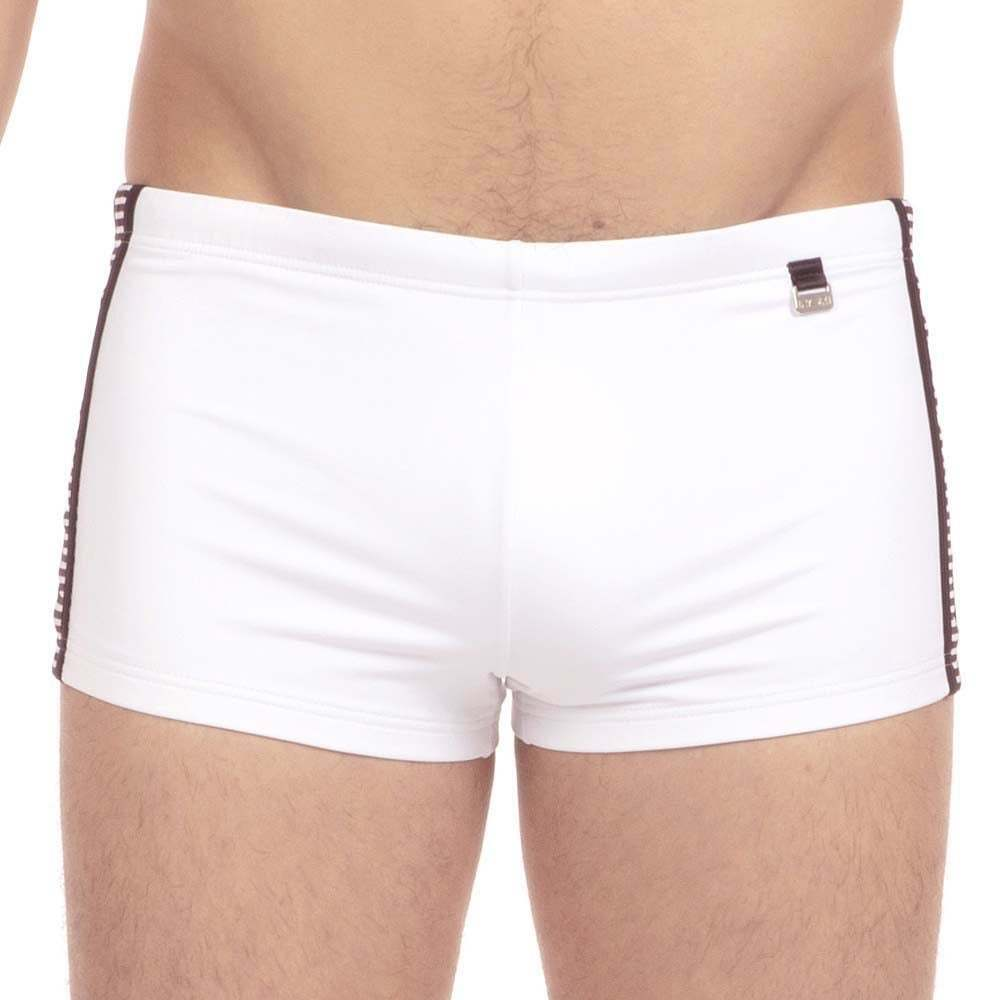 HOM Men's Santa Cruz Swim Shorts, Swimming Trunks, Swimwear, Beach, Pool, White
