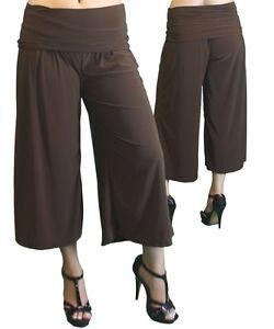 d86899732bba3 New Women s Plus Size Brown Gaucho (Capri) Pants Sizes 1X 2X 3X USA ...