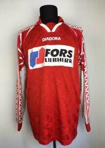 FC BIEL-BIENNE 1996/1997 MATCH WORN FOOTBALL SHIRT SWITZERLAND FUßBALL TRIKOT