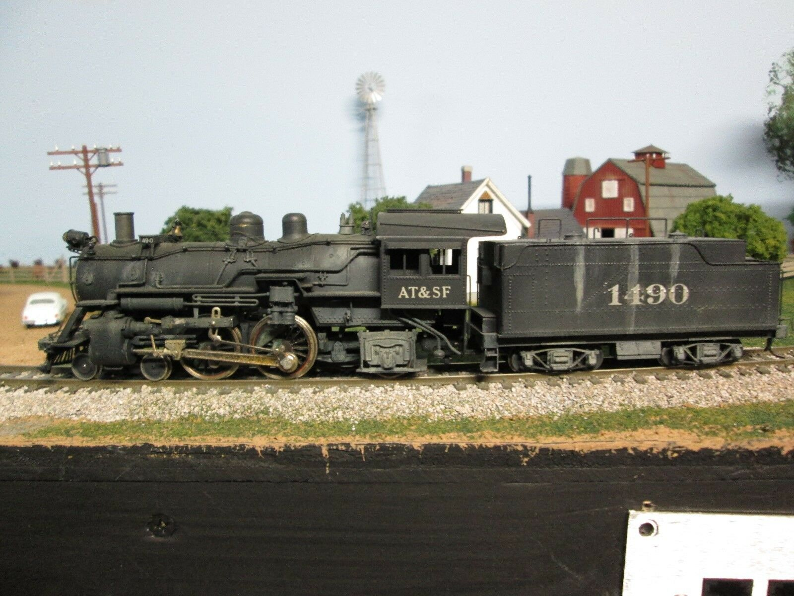 HO BRASS BALBOA ATLANTIC AT&SF 4-4-2 CLASS 1480 CUSTOM PAINT AND WEATHErosso