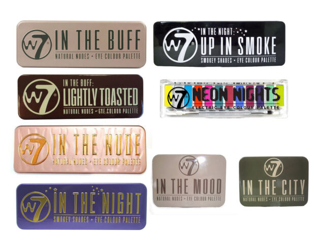 W7 Eye Shadow Palette - Choose from 8 shades 'In the Buff, Nude, Night, Toasted'